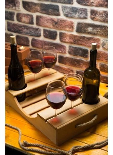 Joy Kitchen  5 Parça Ahşap Şarap Servisi Renkli